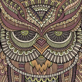 Búho ornamental decorativo Ilustración del vector Imagen de archivo