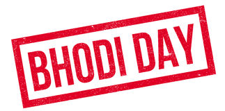 Bhodi Day rubber stamp Royalty Free Stock Photo