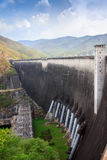 Bhomibol dam. The largest dam in thailand Royalty Free Stock Photos