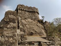 Bhongir堡垒 免版税图库摄影