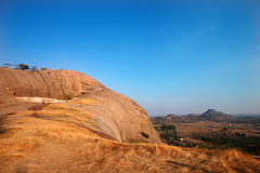 Bhongir Fort on monolyth rock, Telengana Royalty Free Stock Images