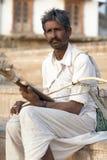 Bhopa Musican在普斯赫卡尔 免版税库存照片