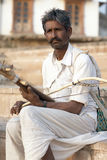 Pushkar, India, Bhopa Musican with traditional Indian instrument Royalty Free Stock Photo