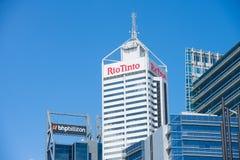 BHP Biliton et Rio Tinto Headquarter Perth photo stock