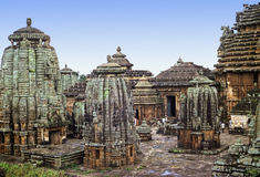Bhubaneshwar temple. Original shape of Lingaraj Hindu temple, the largest one in Bhubaneshwar, Orissa, India Stock Photos
