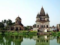 Bhubaneswar-Shiva-tempel Puthia, Bangladesh fotografering för bildbyråer