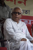 Bhuda Deb Bhattachraya σε μια συνάθροιση. Στοκ Φωτογραφία