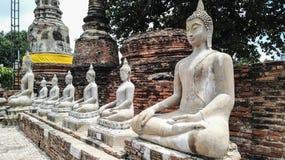 Bhuda sclupturesammanträde för ber Royaltyfri Bild