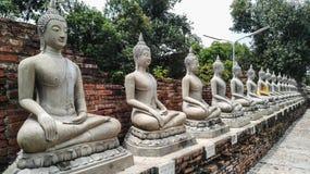 Bhuda sclupturesammanträde för ber Royaltyfri Foto