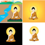 Bhudda cartoon Royalty Free Stock Photos