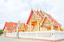 Bhudda church. Side of Buddha church at the Thai temple Royalty Free Stock Images