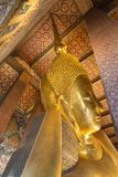 Bhudda de descanso Wat Pho en Bangkok Fotografía de archivo