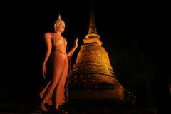 Bhudda, i att gå position Royaltyfri Foto