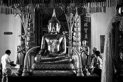 Bhudda in Wat Pa Nan Cheung Ayutthaya Thailand Royalty-vrije Stock Fotografie