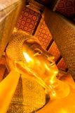 Bhuddha bild i Wat Pho Arkivbilder