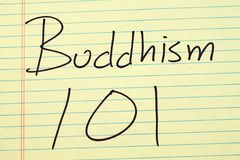 Bhuddhism 101 на желтой законной пусковой площадке Стоковые Изображения