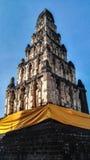 Bhuddism stupa Konst av Lanna Style Fotografering för Bildbyråer