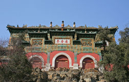 Bhuddist美德寺庙在颐和园的在北京 库存图片