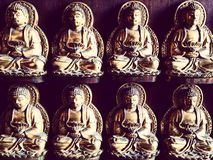 Bhuddist Saint sculpture. 4 pairs of holy monk Royalty Free Stock Image