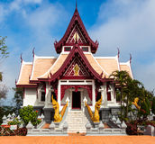 Bhuddist temple in Mae Salong, Thailand. Royalty Free Stock Image