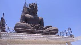 Bhudha staty på jain mandir Indien royaltyfri foto