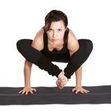 Bhudzhapidasana excercising da ioga foto de stock royalty free