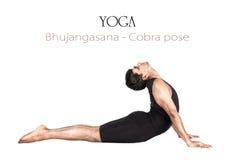 bhujangasana眼镜蛇姿势瑜伽 库存图片