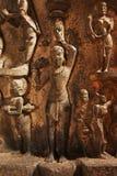 Bhuleshwar寺庙洞,湿婆,浦那-索拉普高速公路阁下印度寺庙,在Yawat附近,浦那,马哈拉施特拉 免版税库存照片