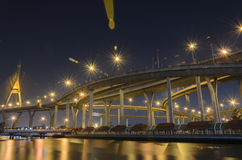 Bhumibol桥梁在泰国 库存图片