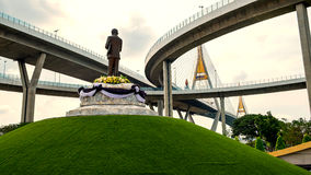 Bhumibol桥梁 图库摄影
