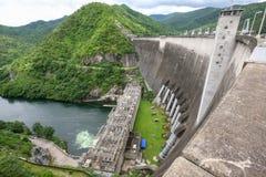 水坝在泰国 免版税库存图片