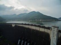 Bhumibol水坝鸟瞰图 库存照片