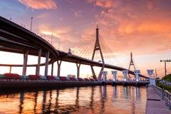 Bhumibol Brücke Lizenzfreie Stockfotos