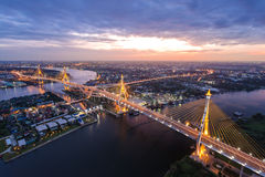 Bhumibol Brücke stockfotografie
