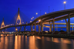 Bhumibol-Brücke Bangkok, Thailand Stockfotografie