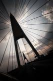 Bhumibol-Brücke in Samut Prakan Lizenzfreie Stockbilder