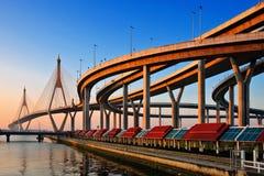 Bhumibol Brücke in Thailand Stockfotografie
