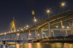 Bhumibol-Brücke in Thailand Stockfotografie