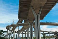 Bhumibol Bridge. The Industrial Ring Road Bridge in Bangkok, Thailand royalty free stock photos