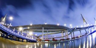 Bhumibol bridge. In Bangkok, Thailand royalty free stock photography