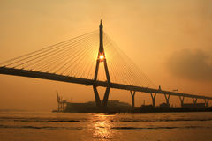 Bhumibol Bridge Royalty Free Stock Images