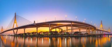Bhumibol Bridge1 Στοκ φωτογραφία με δικαίωμα ελεύθερης χρήσης
