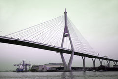 The Bhumibol Bridge also called Industrial Ring bridge. Stock Photography