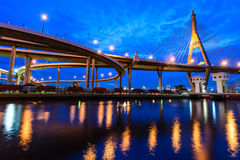 The Bhumibol Bridge also known as the Industrial Ring Road Bridg Stock Image