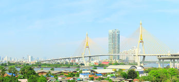 The Bhumibol Bridge Royalty Free Stock Image