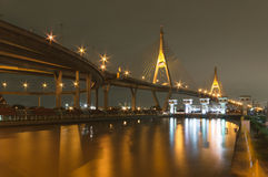 The Bhumibol Bridge also known as the Industrial Ring Road Stock Image