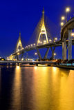 Bhumibol bridge, Bangkok. The Bhumibol Bridge, also known as Industrial Ring bridge on Jan 28, 2013 in Bangkok. It is a part of 13 km long Industrial Ring Road Stock Images