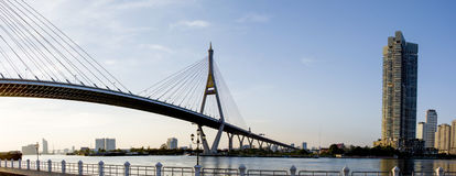 Bhumibol bridge. In Bangkok, Thailand Stock Photography
