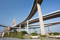 Bhumibol Bridge, Bangkok, Thailand Stock Image