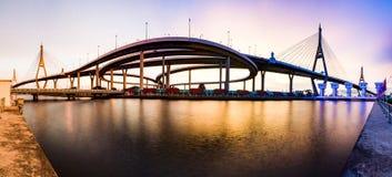 Bhumibol bridge. In bangkok thailand stock image